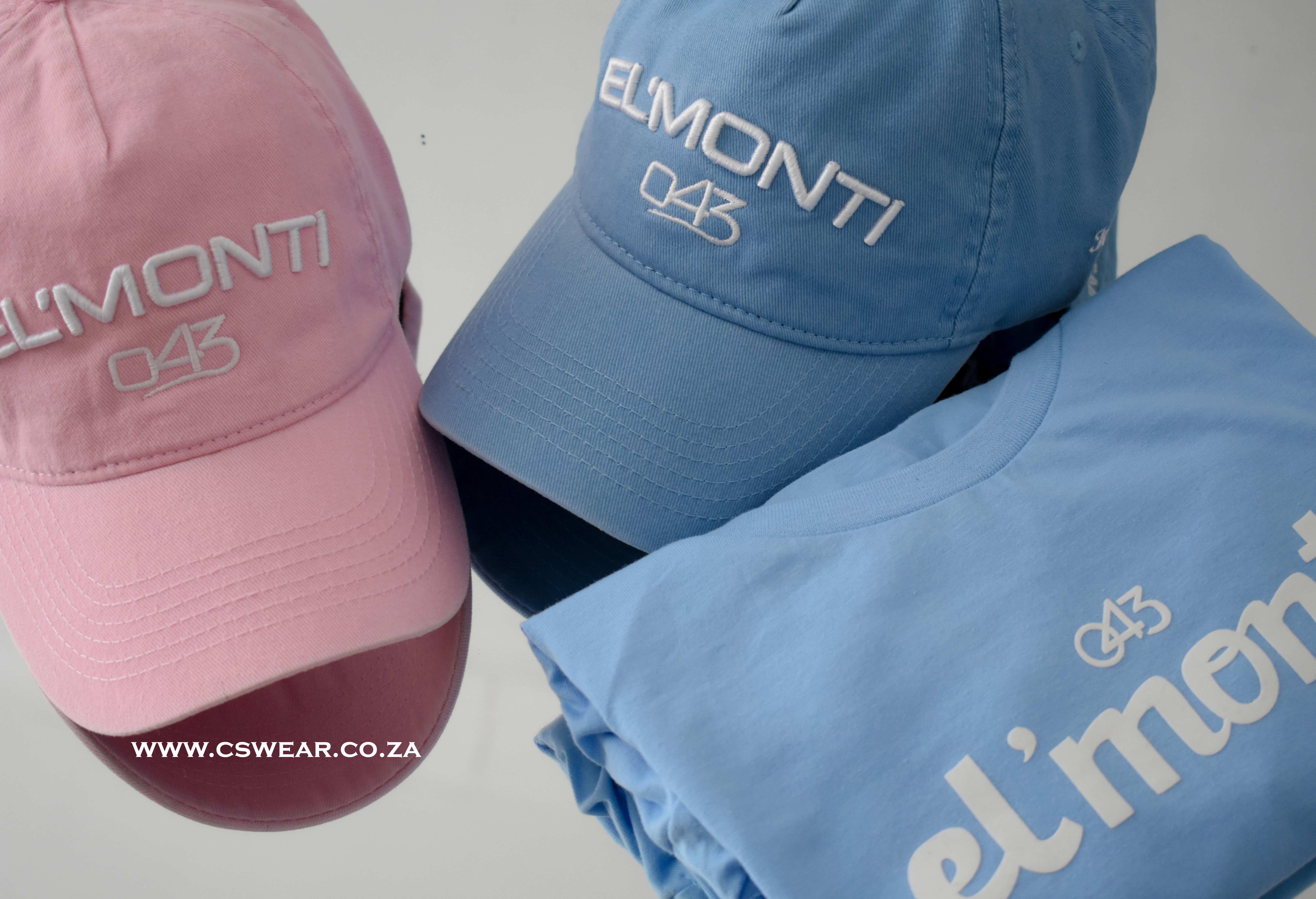 EL'MONTI caps and t-shirts